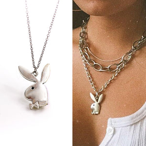 Cute rabbit charm necklaces women