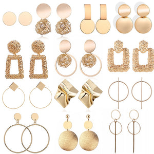 Fashion Big Geometric Round Earrings For Women