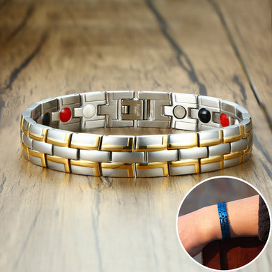 Health Magnetic Stainless Steel Male  Bracelets