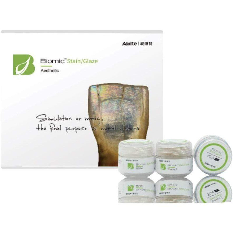 Aidite Stains and Glazes Biomic Stain Kit - Basic or Aesthetic