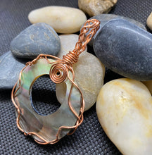 Load image into Gallery viewer, Mother of Pearl & Copper Pendant