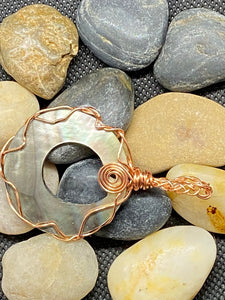 Mother of Pearl & Copper Pendant