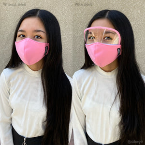 KIDS Cloth Masks with Built-In Filter and Removable Eye Shield (5yrs+)