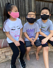 Load image into Gallery viewer, KIDS Cloth Masks with Built-In Filter and Removable Eye Shield (5yrs+)