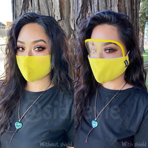 Cloth Masks with Built-In Filter and Removable Eye Shield