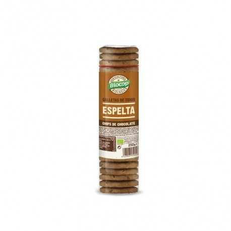 Galleta de espelta con chips de chocolate Biocop 250 g