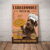 Labradoodle Dog Pizza Company Canvas FB1702 70O34