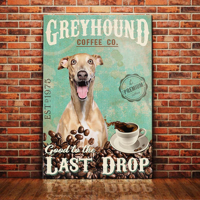 Greyhound Dog Coffee Company Canvas FB1904 78O57