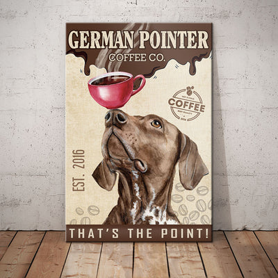 German Shorthaired Pointer Dog Coffee Company Canvas FB2603 85O34