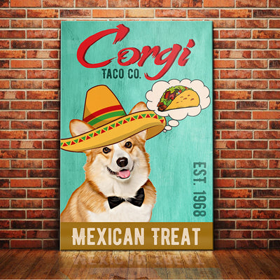 Corgi Dog Taco Company Canvas FB2802 71O43