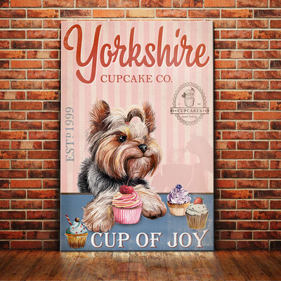 Yorkshire Terrier Dog Cupcake Company Canvas FB2202 70O58