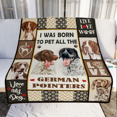 German Shorthaired Pointer Dog Fleece Blanket MR0402 70O52