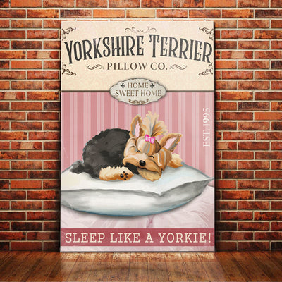 Yorkshire Terrier Dog Pillow Company Canvas FB2702 85O58