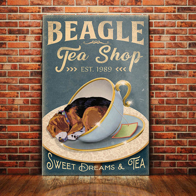 Beagle Dog Tea Shop Canvas MR0201 95O60