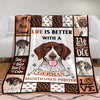 German Shorthaired Pointer Dog Fleece Blanket MR0402 70O51