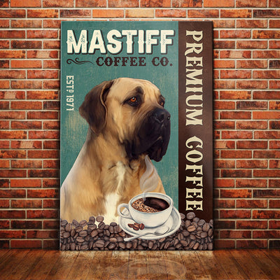 English Mastiff Dog Coffee Company Canvas FB2502 70O31