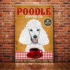 Poodle Dog Coffee Company Canvas FB1702 68O31