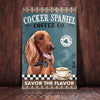 Cocker Spaniel Dog Coffee Company Canvas FB1804 90O47