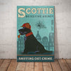 Scottish Terrier Dog Detective Agency Canvas MR0603 95O36