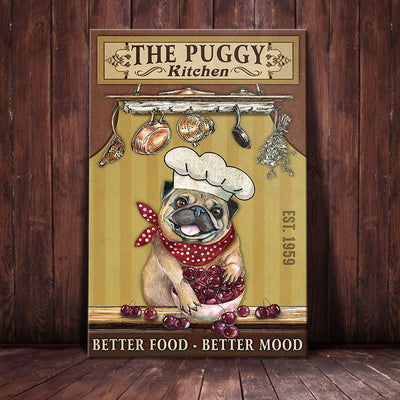 Pug Dog Kitchen Canvas MR1602 90O50
