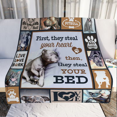 Pitbull Dog Fleece Blanket OCT3102 90O47