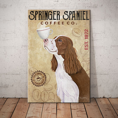 Springer Spaniel Dog Coffee Company Canvas FB2701 85O53