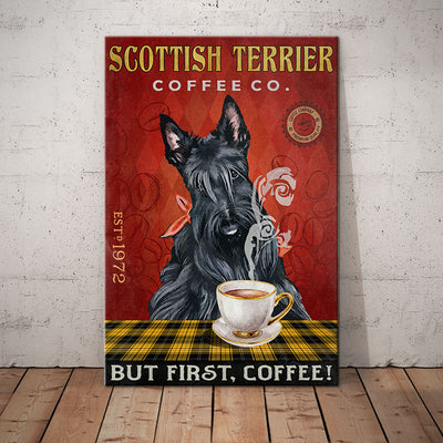 Scottish Terrier Dog Coffee Company Canvas MR0302 90O53