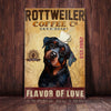 Rottweiler Dog Coffee Company Canvas FB1801 90O50