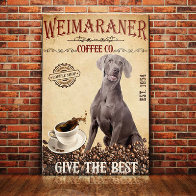 Weimaraner Dog Coffee Company Canvas FB2503 69O51