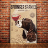 Springer Spaniel Dog Coffee Company Canvas FB2701 85O58