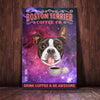 Boston Terrier Dog Coffee Company Canvas FB2103 68O31