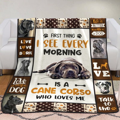 Cane Corso Dog Fleece Blanket MR0302 81O42