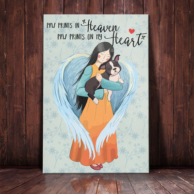 Boston Terrier Dog Angel Canvas MR0303 81O34
