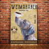 Weimaraner Dog Coffee Company Canvas MR0502 67O36