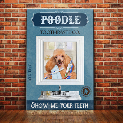 Poodle Dog Toothpaste Company Canvas FB1703 68O59