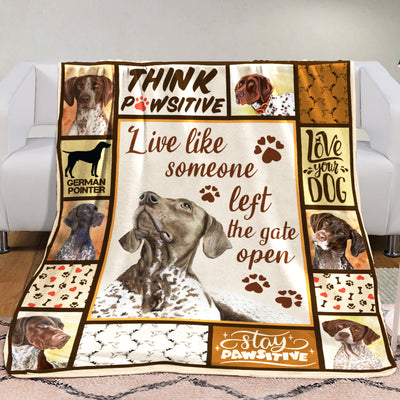 German Shorthaired Pointer Dog Fleece Blanket MR0403 70O31