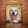 Golden Retriever Dog Coffee Company Canvas FB1401 67O31