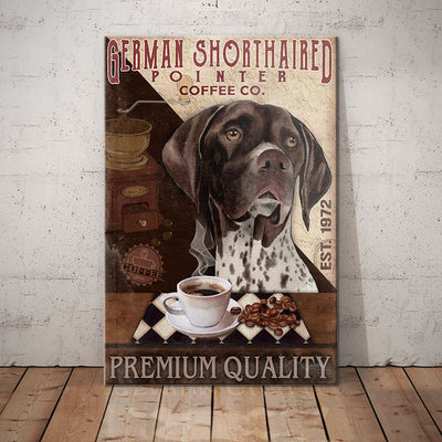 German Shorthaired Pointer Dog Coffee Company Canvas FB2603 95O50