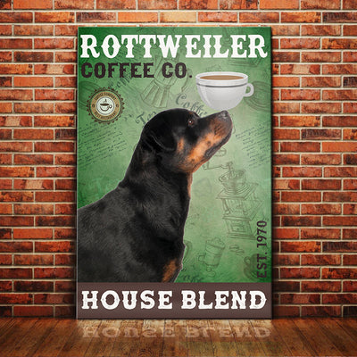 Rottweiler Dog Coffee Company Canvas FB1801 67O31