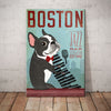 Boston Terrier Jazz Bar Canvas FB1110 85O60