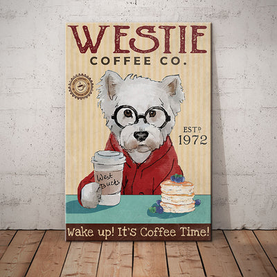 Westie Dog Coffee Company Canvas FB2803 85O53