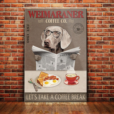 Weimaraner Dog Coffee Company Canvas FB2502 67O52