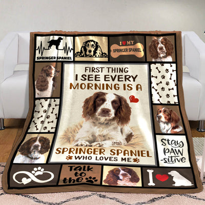 Springer Spaniel Dog Fleece Blanket MR0502 69O50