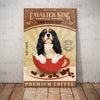 Cavalier King Charles Spaniel Dog Coffee Company Canvas FB1901 70O42