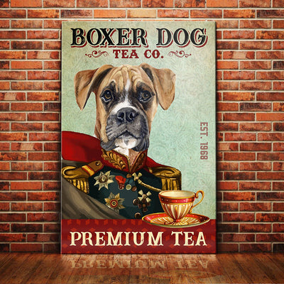 Boxer Dog Tea Company Canvas FB2401 68O31