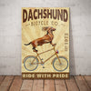 Dachshund Dog Bicycle Company Canvas FB0603 81O36