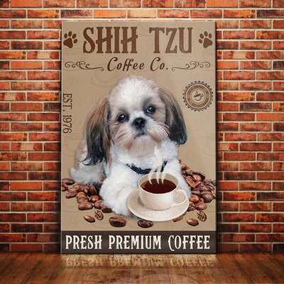 Shih Tzu Dog Coffee Company Canvas FB2801 68O57