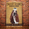 Basset Hound Dog Coffee Company Canvas MR0305 90O53