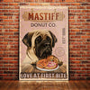 English Mastiff Dog Donut Company Canvas FB2502 70O60
