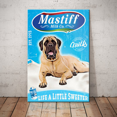 English Mastiff Dog Milk Company Canvas FB2002 78O59